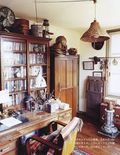 photo #study #desk #cabinet #books