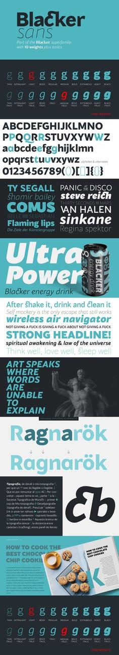 Blacker Sans – Download 2 Free Fonts