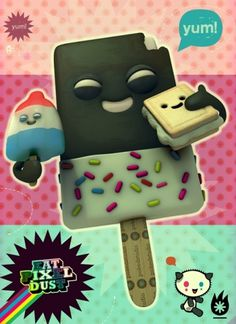icecream friends on the Behance Network #poster