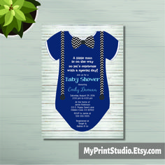 Creative Onesie Baby Shower Invite.