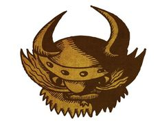 Viking Man by Alex Felter #gnarly #beard #illustration #horns #viking