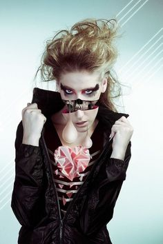 Img Exp :: Not's Photo Project on the Behance Network #heart #girl #illustration #fashion #skull