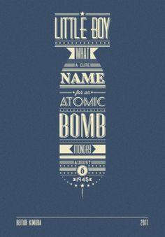 Heitor Kimura #boy #heitor #little #kimura #poster #bomb #typography