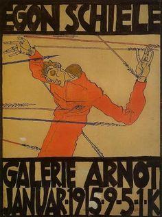 Self Portrait as St. Sebastian (exhibition poster) 1915 Egon Schiele
