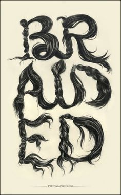 CUSTOM LETTERS 2010, TOP 10 — LetterCult #hair #type #drawing