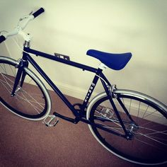 My Bike #bicycle #hipster #contemporary #bike #blue