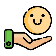 See more icon inspiration related to hand, smiley, hands and gestures, satisfaction and emoticon on Flaticon.