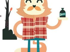Lumberjack Fox (un finished) #illustration #character design #fox #lumberjack