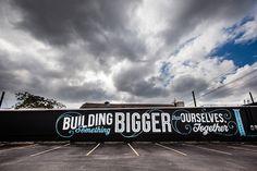 Bold, Large-Scale Typographic Street Murals Brighten Up Neighborhoods #type
