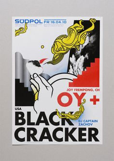 Oy + Black Cracker #vectors #herrpeter #hand #poster