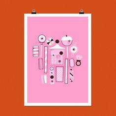 Eye Candy – neiljrook.com #rook #pink #neil #j #candy #illustration #sweets