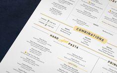 Romanos Macaroni Grill #typography #menu