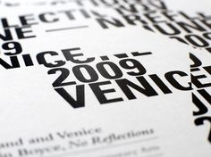 Graphical House - Scotland + Venice #detail #poster #typography