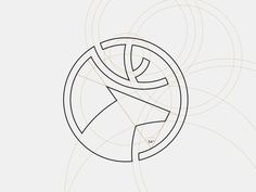 Dia Holdings – Logo grid system #inspiration #deer #design #grid #logo #animal