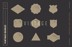Free Vintage Badge Kit for Logotypes - Designr Kit