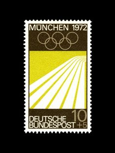 [rafdevis] - Axel Hütte #post #stamp #munchen #germany #1972 #bundespost #olympics #deutsche