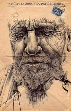 Drawings on envelopes by Mark Powell | 123 Inspiration #envelopes #drawings #powell #mark