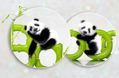 Photoshop Panda Illustration & Bamboo Text Effect. Hoe to create green and fresh bamboo text style effects