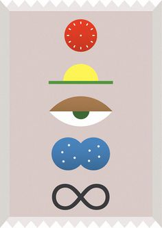 4eva #abstract #sun #pink #print #eye #illustration #minimal #poster #art #time #clock #drawing