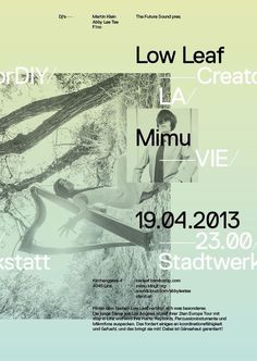 The Future Sound — Low Leaf #austria #ortner #poster #exposed #woifi