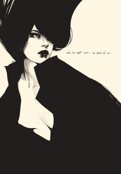 WHEN THE NIGHT COMES - Illustration by Manuel Rebollo