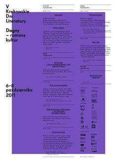FFFFOUND! | V krakowskie dni literatury : portfolio #poster