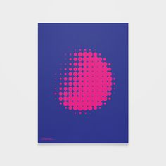 Darkside #poster #print #minimal #forms #shapes #geometry #abstract #halftone #dots #circles