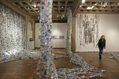 Swallowed, A large scale multi media installation by Maggie Nowinski. #installation #art #installation art