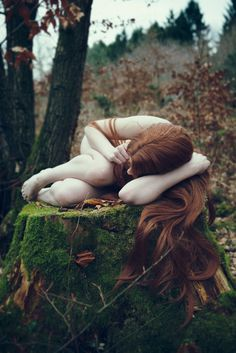 Too Many Humans #woman #hair #nature #forest #ginger