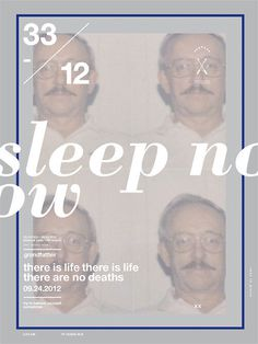 Sleep now #type #design #poster #typography
