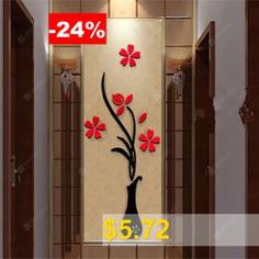 3d #Vase #Wall #Murals #for #Living #Room #Bedroom #Sofa #Backdrop #Tv #Wall #Sticker #- #BLACK