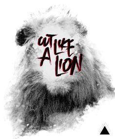 LESS IS MORE // MORE IS LESS on the Behance Network #lion #design #poster #music #typography