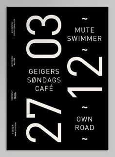 Geiger Magazine on the Behance Network #geiger #grid #editorial #poster