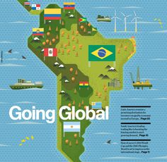 Illustrations: Raconteur covers Q3 Q4 2012 on Behance #map