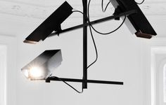 Surveillance Chandelier | The Design Ark #chandelier #surveillance #perbastian #installation