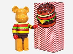 Bear Burger #brick #medicom #corp #bear #toy