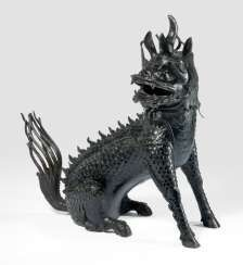Large incense burner in the Form of a seated Qilin with moveable head as a lid