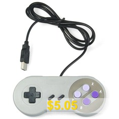 Classic #USB #Controller #for #SNES #- #GRAY