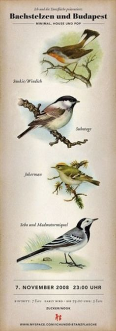 · TROPENELEKTRONIK · #old #birds #vintage #poster #fashioned
