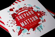 Shepard's Birth Announcement « Mattson Creative #creative #birth #red #letterpress #ty #announcement #baby #mattson