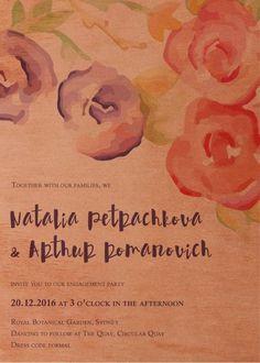 Rustic Botannica - Engagement Invitations #paperlust #engagementinvitation #engagementcard #engagementinspiration #design #paper #printonwo