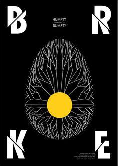 HUMPTY DUMPTY #broke #lewis #poster #carrol #typography