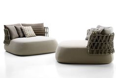 Fat-Sofa Outdoor Collection by Patricia Urquiola - #design, #furniture, #modernfurniture, design, furniture