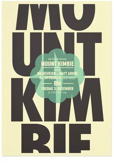 Mount Kimbie #poster #norway #the metric system