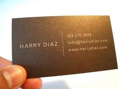 Harry Diaz Blog: 2011 Screen Printed Business Cards #design #art #business card