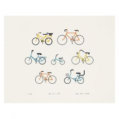 the Otherist #bikes #letterpress #illustration #otherist #amsterdam