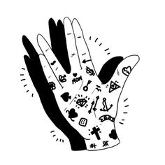 Franco Giovanella Portfolio Hands on #ink #draw #symbols #fingers #illustration #tattoo #blck #art #hand