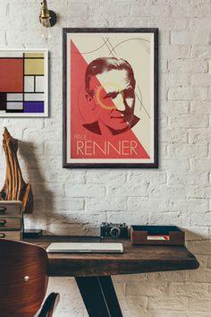 Paul Renner Framed Poster #futura #art #paulrenner