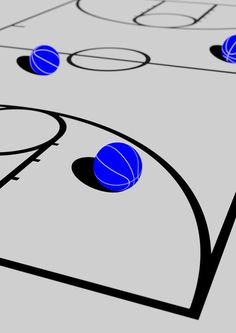 DOMO-A Inspiration blog #blue #illustration #basketball