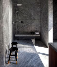 B House – Modern Dwelling with Dark Accents - #bath, #interior, #decor, home, bathroom